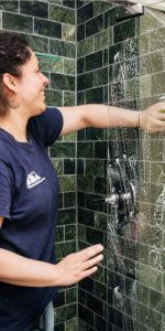 Clean Guest Shower